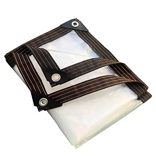Lona De ProteccióN Multiusos para Al Aire Libre, Plegable Transparente Cortina Impermeable con Ojales, PelíCula De Cortina Suave De PláStico For Ventana/Puerta/Plantas(3x4m(9.8x13.1ft))