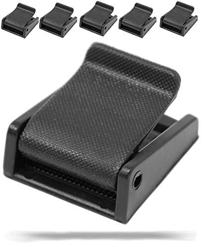 5 Stück   Klemmschnalle für Gurtband   Kunststoff   schwarz   Klemmverschluss   Klemme   Gurt (20mm)