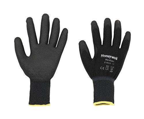 Honeywell 2100251-10, Extra groß, mit PU überzogener allgemeine Handhabung Handschuhe, Schwarz