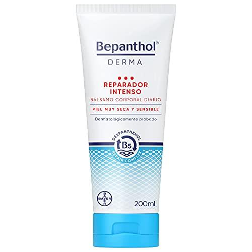 Bepanthol Derma Reparador Intenso Bálsamo para el Cuerpo, Hidratación Intensa e Inmediata, Piel Muy Seca y Escamosa, Uso Diario, 200 ml