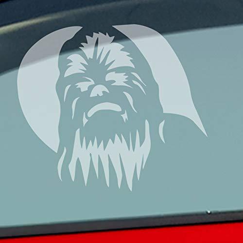 Auto Aufkleber in deiner Wunschfarbe Chewbacca für Star Wars Fans Darth Vader 12x10cm Autoaufkleber Sticker Folie