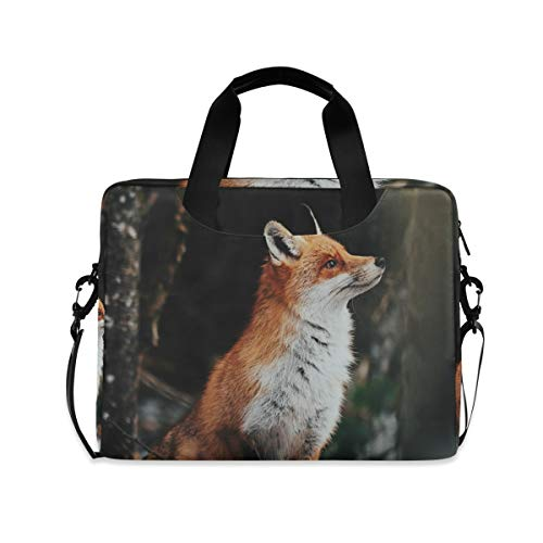 XIXIKO Animal Fox Snow Field Laptop Bag Expandable Trolley Briefcase Bag for Women Men with Detachable Strap for Work Trip Business Travel iPad MacBook