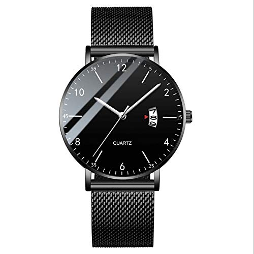 TUOFEIS Relojes, Relojes De Los Hombres, Relojes, Relojes De Los Estudiantes A Prueba De Agua, Relojes De Moda, Relojes Luminosos (Color : Negro)