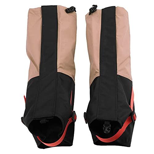 Sdfafrreg Funda para Botas, Zapatos Ligeros Polainas para Senderismo para niños para Deportes de Nieve para niños para Cruzar el Desierto para Esquiar para Acampar(Rosa Carne)
