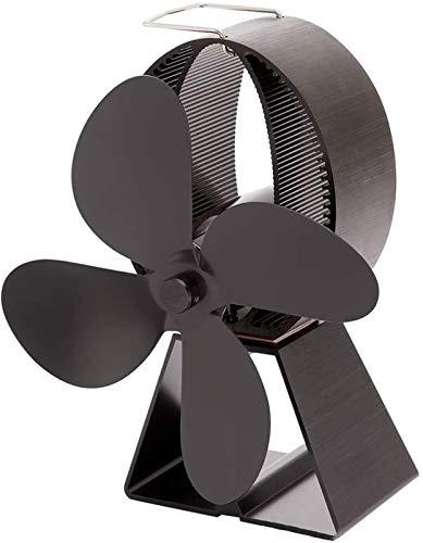 4 Blatt Herd Ventilator Geräuscharmer Betrieb Wärme betriebene Ventilator Batterien Nicht erforderlich Kamin Ventilator for Holz/Log-Brenner oder Kamin