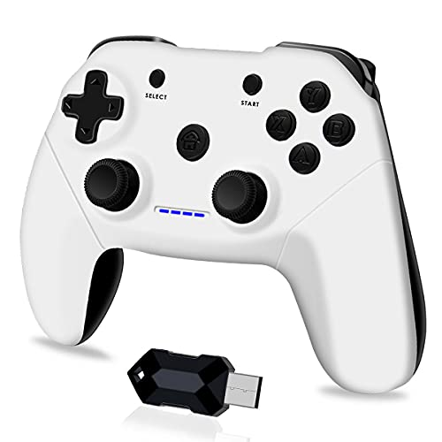 Wireless Game Controller for PC, PS3, Android Phones, Tablets, TV Box, Steam - 2.4G Remote Gamepad Joystick with Dual Vibration, Plug and Play