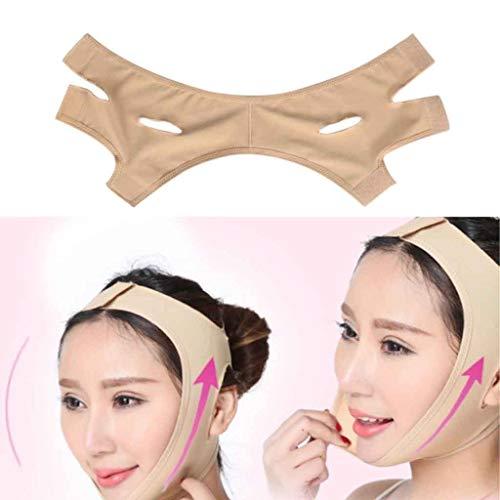 Sangle de levage du visage V Line Face Mask, Chin Up Patch, V Shape Face Lifting & Double Chin Reducer Intense Lifting Mask (Size : M)