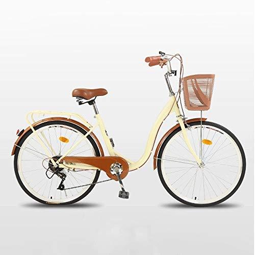 WOF Beach Cruiser Bike Bicicleta de ciudad de aluminio,