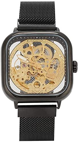 JZDH Mano Reloj Hombres mira Relojes de Pulsera Moda Hombre Hueco Hueco automático Reloj mecánico Negocio Reloj Casual Reloj Cuadrado Reloj Decorativo Reloj Relojes Decorativos Casuales