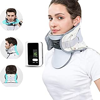 Neck Traction Device, Collars Neck Brace Support, Cervical Collar, Curved Traction, Comfortable and Breathable, Unisex, Su...