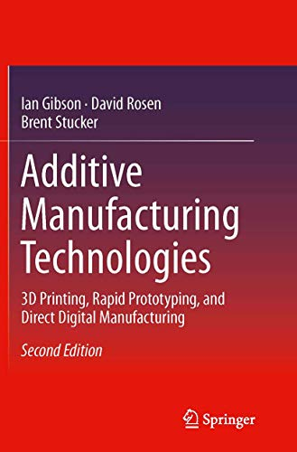 Additive Manufacturing Technologies: 3D Printing, Rapid Prototyping, and Direct Digital Manufacturing