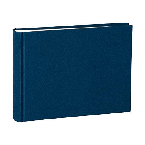 Semikolon (350978) Album Small marine (blau) - Foto-Album mit 80 Seiten - Foto-Buch mit cremeweißem Fotokarton - Format: 21,5 x 16 cm