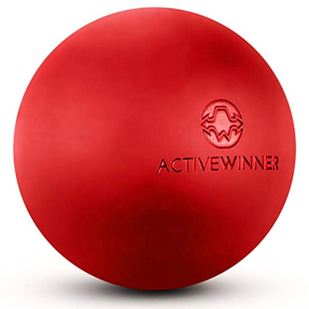 不実ヘア反対にActive Winner マッサージボール トリガーポイント (レッド) ストレッチボール 筋膜リリース トレーニング 背中 肩こり 腰 ふくらはぎ 足 ツボ押し