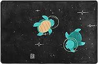 スペースタートルズスーパーソフトインドアモダンエリアラグふわふわラグダイニングルームホームベッドルームカーペットフロアマットベビーキッズ犬猫60x39インチ-80x58インチ