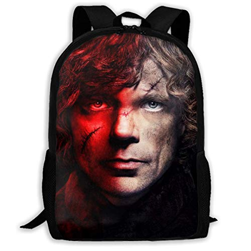 Game Throne Tyrion Lannister Adult Travel Bapa Fits 15.6 Inch Laptop Bapas School College Bag Casual Rusa for Men & Women