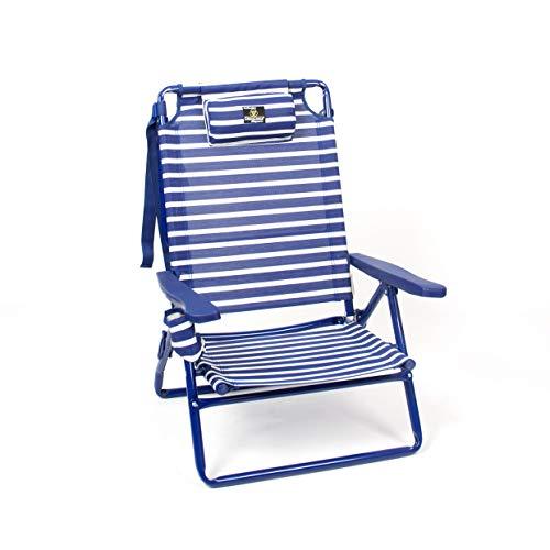 CREVI 904. Silla Playera Acero. Azul Marinera.
