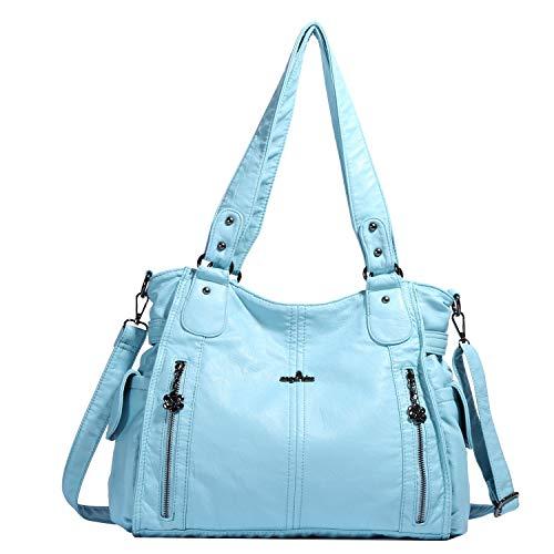 Handbag Hobo Women Shoulder Bag/Handbag Roomy Multiple Pockets Fashion PU Tote, L.blue-881