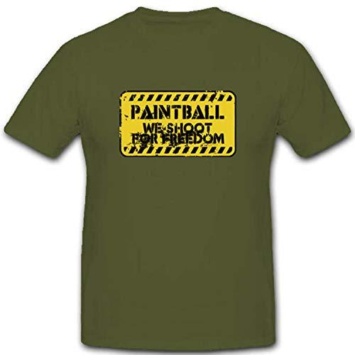 Gotcha Paintball Militär Schild Freiheit Frieden Druckluft Oder Gasdruckmarkierer Marker Paintball Gun - T Shirt #2609, Größe:XL, Farbe:Oliv