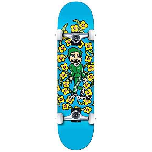 Krooked Classic Pantaloni della tuta Grande Fabbrica Completa Skateboard Blu 20,3 cm