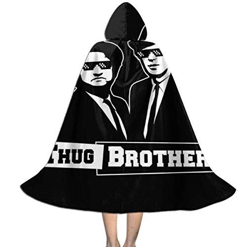erjing Capa para nios de Halloween Thug Brothers Blues Brothers Meme Unisex Capa con Capucha para nios Capa Fiesta de Navidad de Halloween Decoracin Papel Cosplay Disfraces Outwear