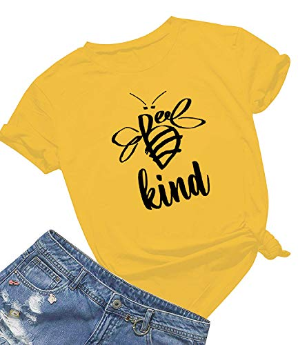 Be Kind T Shirts Women Cute Bee Graphic Blessed Shirt Funny Inspirational Teacher Fall Tees Tops