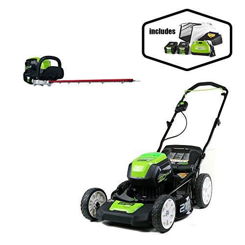 Greenworks PRO 21-Inch 80V Cordless Lawn Mower with PRO 26-Inch 80V Cordless Hedge Trimmer Battery Not Included GHT80320 -  Sunrise Global Marketing, LLC