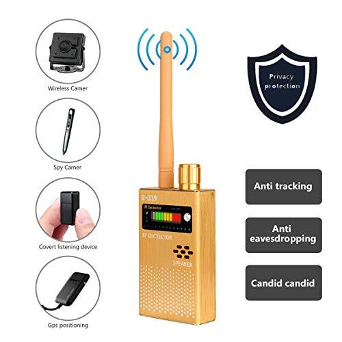 Detector de Señal RF Portátil,Finder Tracker 1MHz - 8GHz,Escáner Anti Escucha para GPS/Cámara Espía Inalámbrica 1.2G y 2.4G/Fuentes de Radiación