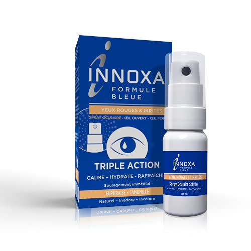 INNOXA - Spray Oculaire pour Yeux Rouges et Irrités - Inodore et Incolore - Naturel - Contre la Fatigue Oculaire - 10ml