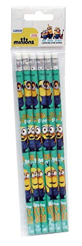 Minions - 0 Set mit 6 Bleistiften, mehrfarbig, 0 (CYP Imports GS-04-MN)