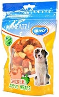 DUVO DOGS TREAT CHICKEN & APPLE WRAPS 100G
