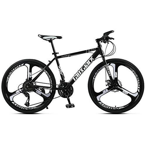 COSCANA Bicicletas De Montaña De 21-30 Velocidades, MTB De 26 Pulgadas, Bicicleta De Montaña con Marco De Acero De Alto Carbono con Freno De Disco Doble para Hombres Y MujeresBlack-30 Speed