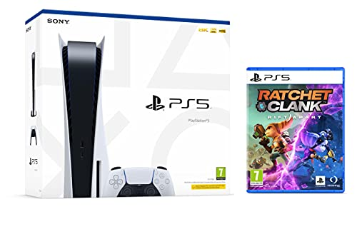Sony PS5 PlayStation 5 Consola Bluray (versión con lector de disco) 825GB SSD, 4K, HDR + Ratchet and Clank: Rift Apart [Playstation 5]