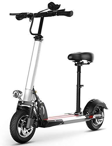 Patinetes Eléctricos Scooter Plegable 10 '', Motor de 500 W, 3 Modos...