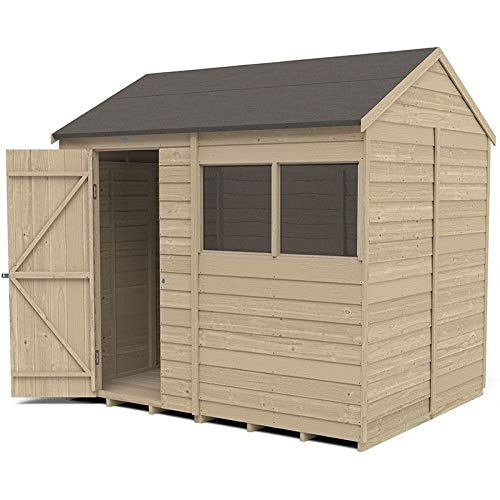 Forest Garden Overlap Pressure Treated 8 x 6, Reverse Apex Shed