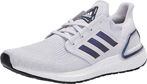 Adidas - Ultraboost 20 - Zapatillas deportivas para mujer, Gris (Gris oscuro/Boost Azul Violeta Metálico/Negro), 36 EU