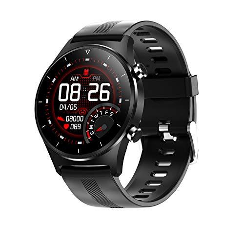 ZYY E13 Watch Smart Watch Bluetooth Llamada a Prueba de Agua SmartWatch Hombres y Deportes de Mujer Pulsera Deportiva Tasa del corazón Monitoreo del sueño GPS Fitness Tracker,G