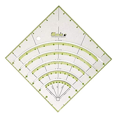 LIYUDL Arcs & Fans Quilt Circle Cutter Ruler Multifunctional Arc Patchwork Rule