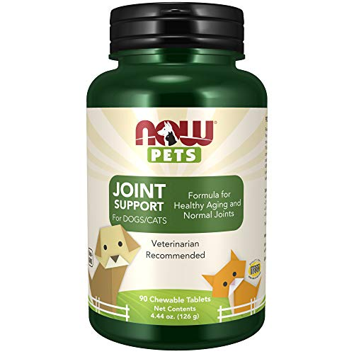 NOW Pet Health Joint Support Supplement Formulated for Cats amp Dogs NASC Certified 90 Chewables Tablets