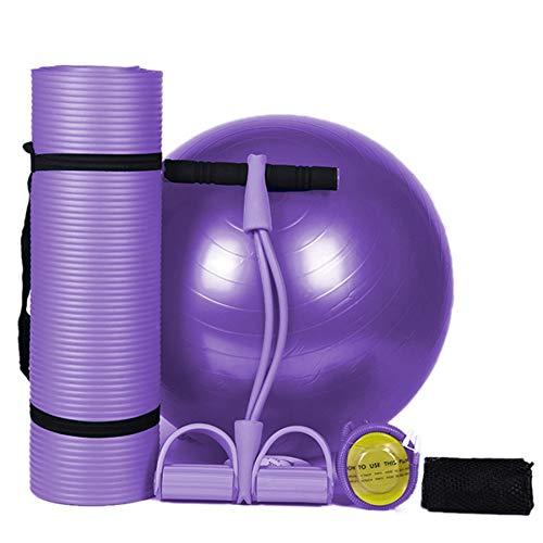 Cobeky Nbr - Esterilla de yoga (183 x 61 cm, 10 mm, antideslizante, sin sabor, fitness, pilates, ejercicios en el hogar, gimnasio, deporte, explosión, pelota de yoga, pelota de fitness de 65 cm)