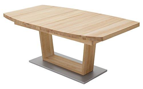 Robas Lund Esstisch Tisch ausziehbar Massivholz Buche, Cantania BxHxT 140x220 x 77 x 90 cm