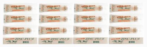 12 Pk VITA-MYR 4 Oz Herbal Zinc+ Natural Toothpaste Safe & Effective Toothpaste No Sugar, No Fluoride, No SLS, No Aspartame, No Saccharin, Low-Abrasive, Gluten Free & Vegan, Whiten Teeth!