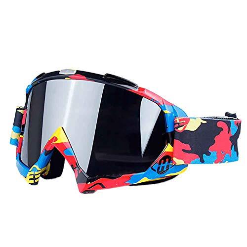 Leezo - Gafas de snowboard para mujer, protección UV 400, lentes resistentes al viento, gafas de motocross, patinaje, ajustables, para motocicleta, bicicleta, para niños y niñas
