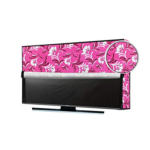 JM Homefurnishings Waterproof, Weatherproof and Dust-Proof LED Smart TV Cover for Sharp (60 inch) Ultra HD 4K, Aquos LC-60UA6800X Protect Your LCD-LED-TV Now Floral Print