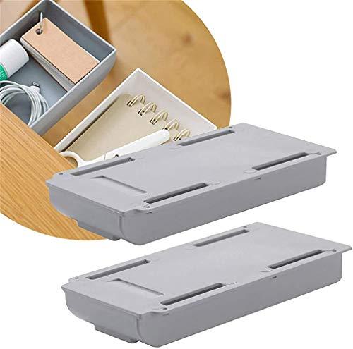 TTCPUYSA Creative Drawer Storage Box,Hidden Paste Style Office Stationery Kitchen Storage,Self-Adhesive Pop-Up Multifunctional Storage Pen Box (White)
