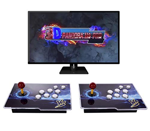 [3399 HD Arcade Games] Pandora's Box 11S 2 Players Arcade Game Console3D Retro Video Arcade Game Console with Two Separate Joysticks and 3399 Retro Games for PC/Laptop/TV