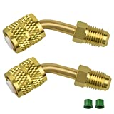 LYTIVAGEN 2 PCS R410a Adapter for Mini Split HVAC System-New Stable Brass Mini Connector Adaptor for Air Conditioning Charging Valve Refrigeration