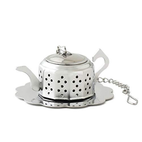 KLYJ Teesieb aus Edelstahl, lose Blätter, Kräutergewürz-Teesieb Filter Teekanne Vogelhaus Form Tee-Werkzeuge 2