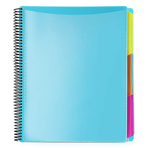 Smead Poly Project Organizer Letter Size 1/3Cut tab 30 Pocket Blue with Bright Colors