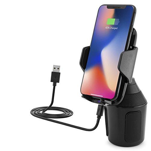MidGard Universal Wireless Auto KFZ-Dosenhalter mit Qi-Ladefunktion kompatibel mit Apple, Samsung, Huawei usw.