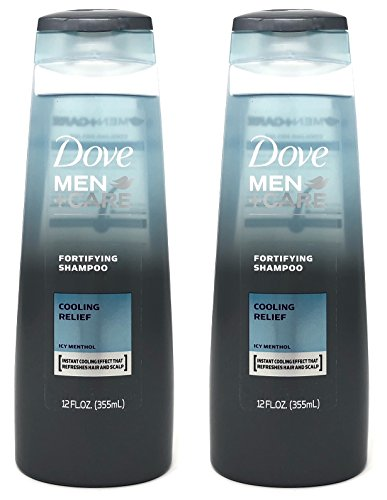 Dove Men + Care Fortifying Shampoo, Cooling Relief Icy Menthol, 12 Ounces (Pack of 2)